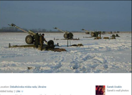 Russian offensive at Debaltseve. Posted by an insurgent from Kazan2