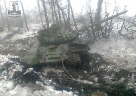 Russian tanks destroyed near Debaltseve 2